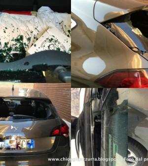 1-auto vandalizzata morris