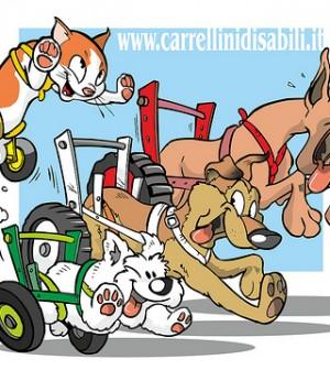 carrellini cani disabili