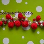 bracciale rose rosse