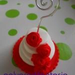 mini wedding cake con portafoto