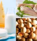 Carne bianca uova e latticini