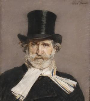 Giovanni Boldini - Ritratto di Giuseppe Verdi 65x54cm