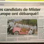 Mister Europa sulla stampa Francese