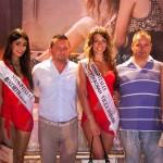 Le ragazze premiate a Villa Momis-Miss Italia