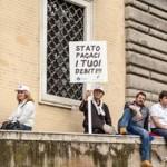 manifestazione artigiani chioggiotti a Roma