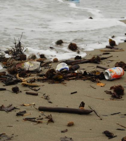 rifiuti spiaggiati