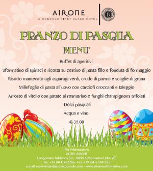 menu pasqua hotel airone