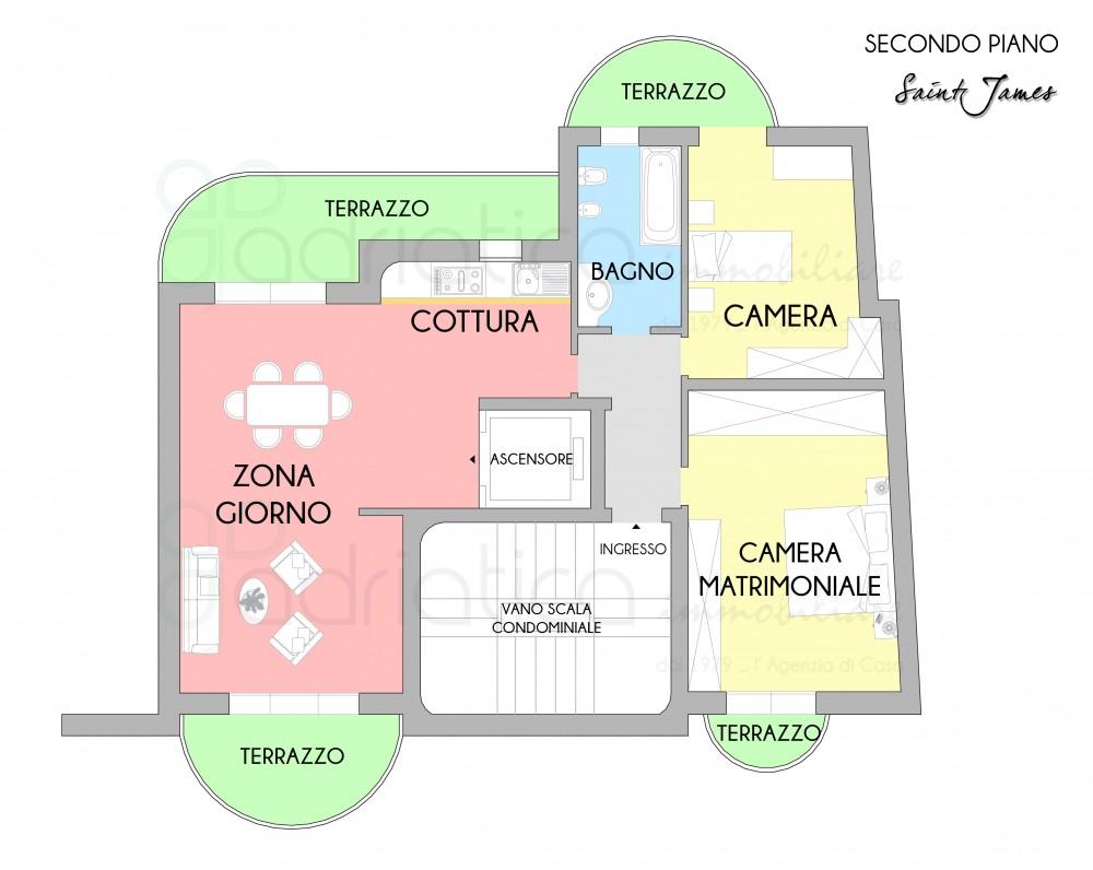 Adriatica immobiliare presenta il complesso residenziale for Ulteriori planimetrie