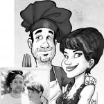 Valentino Villanova San Valentino caricatura