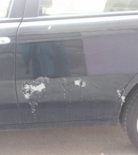 macchina, vandali