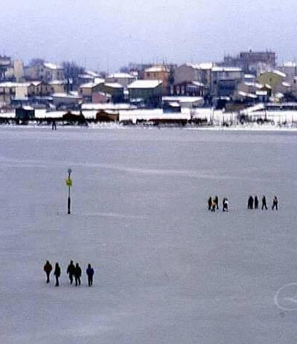 Lusenzo ghiacciato a Sottomarina