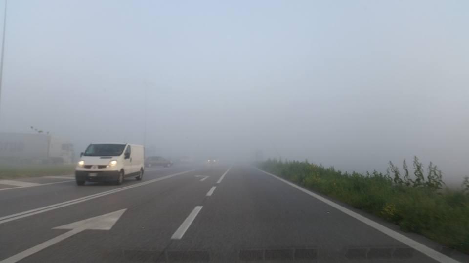 Nebbia in Romea