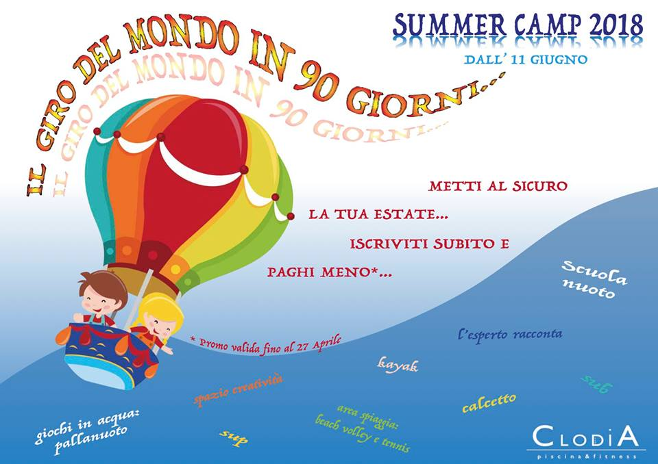 summer camp clodia poscine e fitness