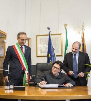 firma Ministro libro degli ospiti Comune di Chioggia