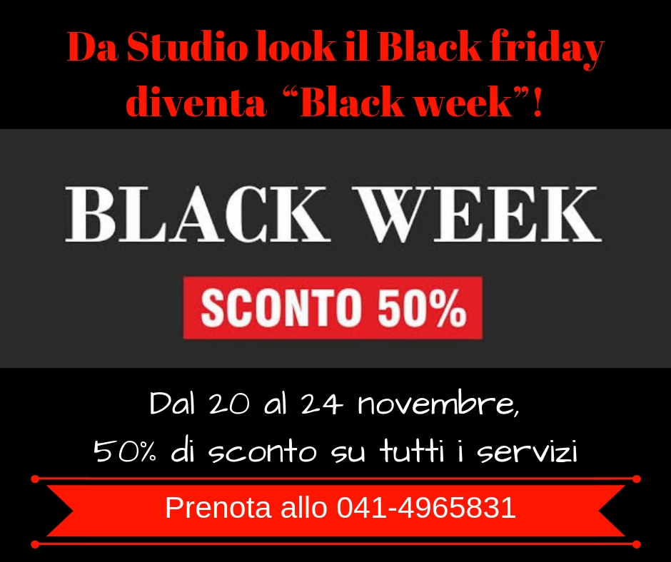 studio look black week