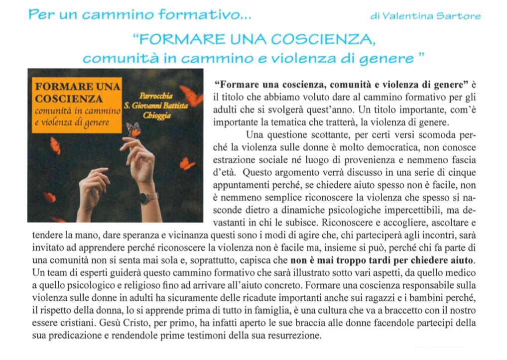 Incontri contro la Violenza sulle Donne Chioggia